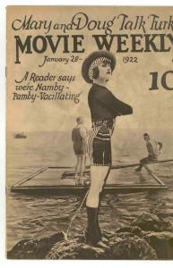 MOVIE WEEKLY Jan 28, .1922.  VERY RARE - HISTORIC - NICE - MOVIE COMIC  VG/FN