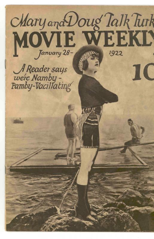 MOVIE WEEKLY Jan 28, .1922.  VERY RARE - HISTORIC - NICE - MOVIE COMIC  VG/FN