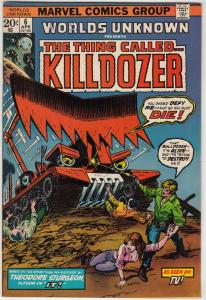 Worlds Unknown #6 (Apr-74) NM- High-Grade Killdozer