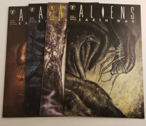 Aliens Earth War #1-4 Complete Set VF/NM 1st Print Dark Horse Comics 1990 Kieth