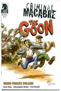 CRIMINAL MACABRE / GOON #1, NM-, Variant, 2011, When Freaks Collide, Niles