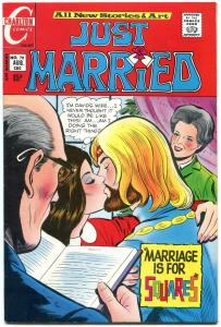 Just Married #78 1971- Charlton Romance- Hippie wedding cover VF