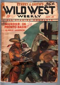 WILD WEST WEEKLY-8/25/1934-PULP-OKLAHOMA KID FR/G