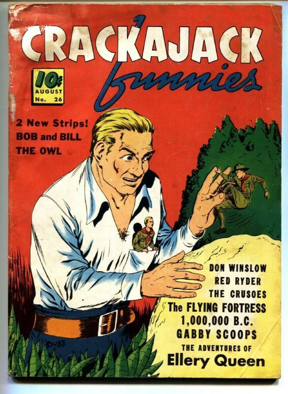 Crackajack Funnies #26 1940- The Owl- Ellery Queen- Red Ryder G+