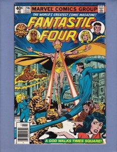 Fantastic Four #216 FN Blastaar Marvel 1980
