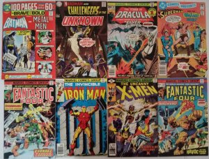 Marvel & DC Bronze Age Comic Lot of (8) Batman FF X-Men Iron Man CL#03