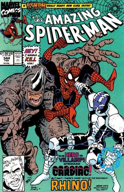Amazing Spider-Man #344 (ungraded) stock photo