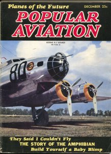 Popular Aviation 12/1938-photo cover of B-17 Bomber-future planes-VG