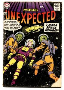 TALES OF THE UNEXPECTED #35 1959 DC  ROCKET SHIP COVER G