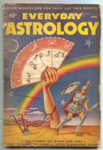 Everyday Astrology Pulp August 1945- SCHOMBURG COVER low grade