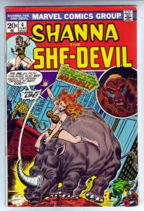 Shanna the She-Devil #4 (Jun-73) VG Affordable-Grade Shanna