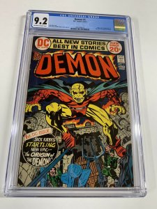 Demon 1 Cgc 9.2 Ow/w Pages Dc Comics Bronze Age Jack Kirby 2031406013