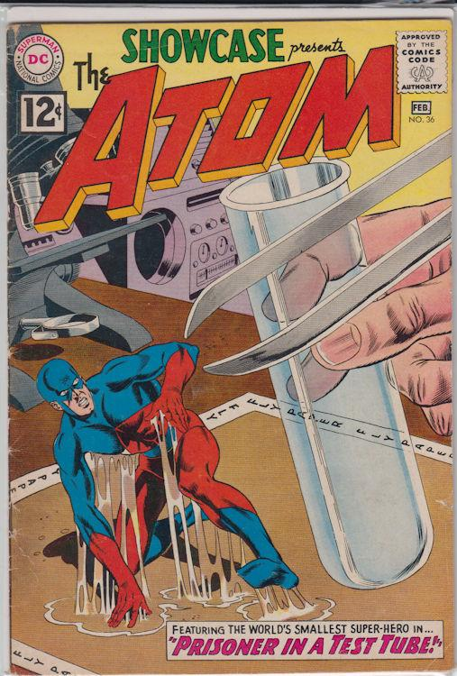 Showcase #36 (Jan-Feb 1962, DC) Fine to Fine+ 3rd App. of The Atom!
