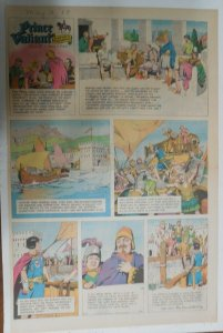 Prince Valiant Sunday #1631 by Hal Foster from 5/12/1968 Rare Full Page Size !