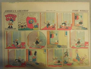Donald Duck Sunday Page by Walt Disney from 6/7/1942 Half Page Size