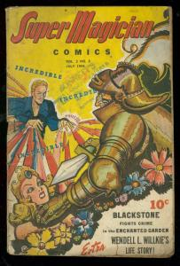 SUPER MAGICIAN v.3 #3 1944-BLACKSTONE-WENDELL WILLKIE VG