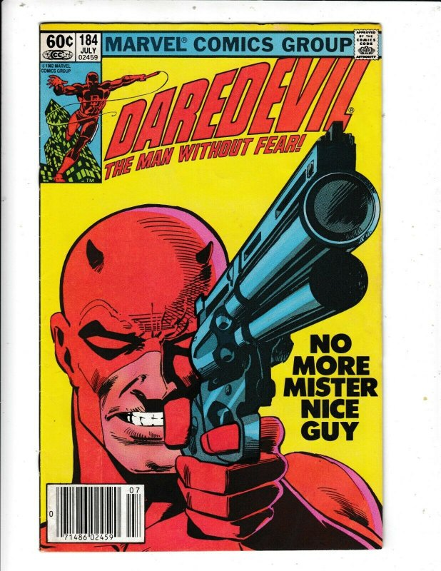 DAREDEVIL #184 VF/FN THE PUNISHER APP.  MILLER STORYLINE  MARVEL  DC COMICS