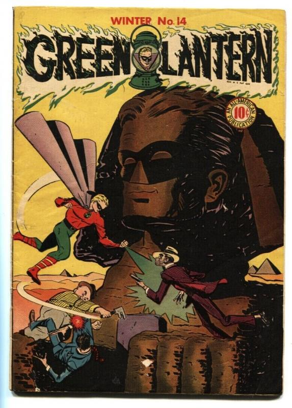 GREEN LANTERN #14 1944-Signed by Irwin Hansen and Mart Nodell-DC Golden-Age