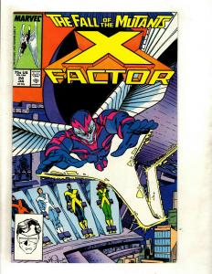 X-Factor # 24 NM Marvel Comic Book 1st Archangel Appearance Wolverine X-Men GK4