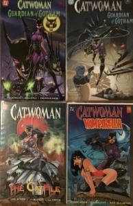 CATWOMAN DC 4 TPB;GUARDIAN OF GOTHAM,#1-2 ,CAT FILE,VAMPIRELLA VF/NM