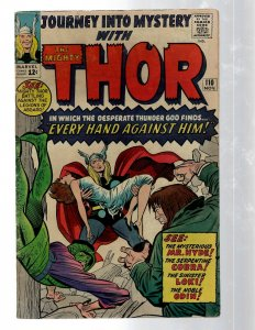 Journey Into Mystery # 110 FN Marvel Comic Book Thor Loki Odin Asgard Sif RB8