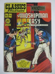 CLASSIC ILLUSTRATED #74 (G) MR. MIDSHIPMAN EASY(1ST Edition, HRO=75) Aug 1950