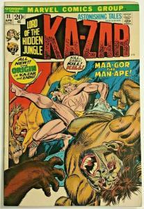 ASTONISHING TALES#11 FN 1972 MARVEL BRONZE AGE COMICS