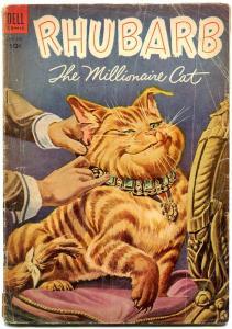 Four Color Comics #563 1954- Rhubarb the Millionaire Cat- Dell Comics G