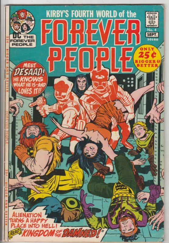 Forever People #4 (Sep-71) VF+ High-Grade Big Bear, Beautiful Dreamer, Serifi...