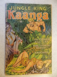 KAANGA JUNGLE KING # 8 FICTION HOUSE GOLDEN AGE ACTION ADVENTURE 1951