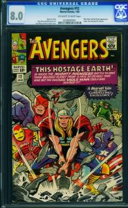 AVENGERS #12 CGC 8.0 Kirby cover George R.R. Martin Letter - 0239097001