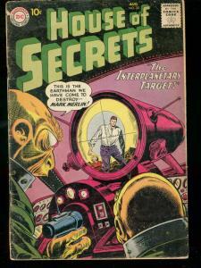 HOUSE OF SECRETS #35 1960 DC COMICS MARK MERLIN HORROR G-