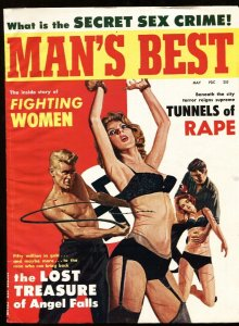 Man's Best  5/1963-NAZI whips bound babe on cover! Pulp mag