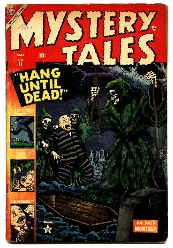 Mystery Tales #11 1953- tough issue Everett hangman cover- Atlas Horror- VG-