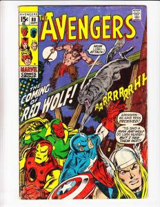 Avengers [1970 Marvel] #80 VF- cheyenne 1ST RED WOLF native american hero