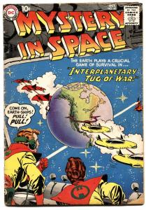 MYSTERY IN SPACE #47-FLYING SAUCER SCIENCE-FI ART ROCKETS-MOON-ALIENS  VG-
