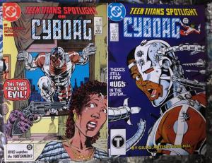 Teen Titans Spotlight (1986)#'s 13,20- CYBORG!VF Straczynski Changling/Beast Boy