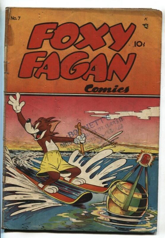 FOXY FAGAN #7 1948-Water Skiing cover-SLAPSTICK HUMOR