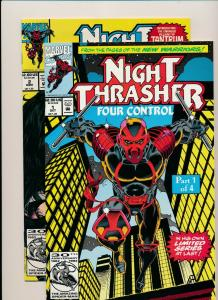 Marvel Comics NIGHT THRASHER Part 1 & 2 of Four Control VF/NM  (PF868)