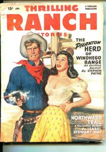 THRILLING RANCH STORIES 01/1949-WESTERN PULP FICTION-HEADLIGHTS-MCCULLEY-fn-