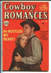 Cowboy Romances #2 1949-Marvel-western thrills-William Holden-Mona Freeman-VG