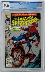 Amazing Spider-Man #361 CGC 9.8 WP Marvel 1992. First Carnage App. Second Print.