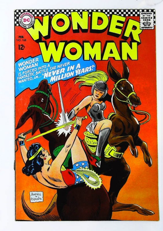 Wonder Woman (1942 series) #168, VF- (Actual scan)