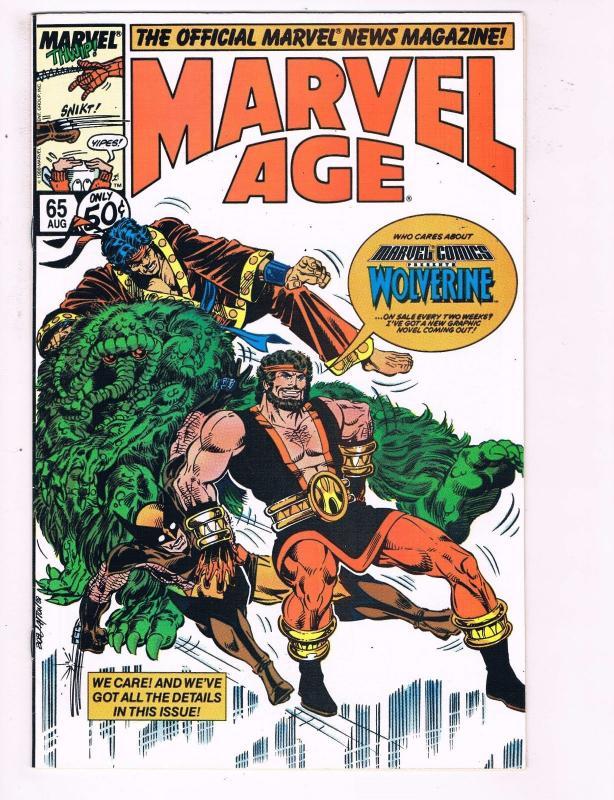 The Official Marvel News Magazine Marvel Age #65 VF Marvel Comic Book  DE7
