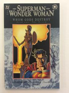 SUPERMAN WONDER WOMAN WHOM GODS DESTROY #1-4 - Signed by Chris Claremont w/COA