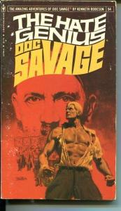 DOC SAVAGE-THE HATE GENIUS-#94-ROBESON-VG/FN-BOB LARKIN COVER-1ST EDTION VG/FN