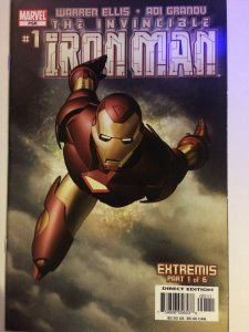 Invincible Iron Man #1 2005 Ellis Extremis Part 1 NM Marvel Comics