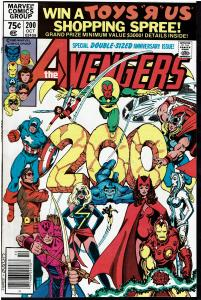 Avengers #200, 9.0 or Better *KEY Controvertial Issue* Carol Danvers Raped (10)