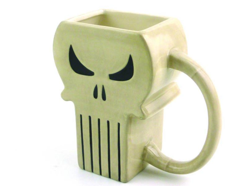 Marvel Heroes Punisher Symbol PX Molded Coffee Cup / Mug - New!