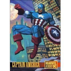 1995 Skybox DC Versus Marvel CAPTAIN AMERICA Promo #2